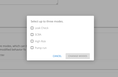 How to add pump run mode to a configuration profile