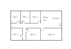 Label where floor plan is in the building