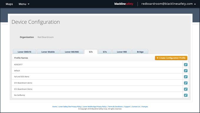 NEW CONFIGURATIONS PAGE