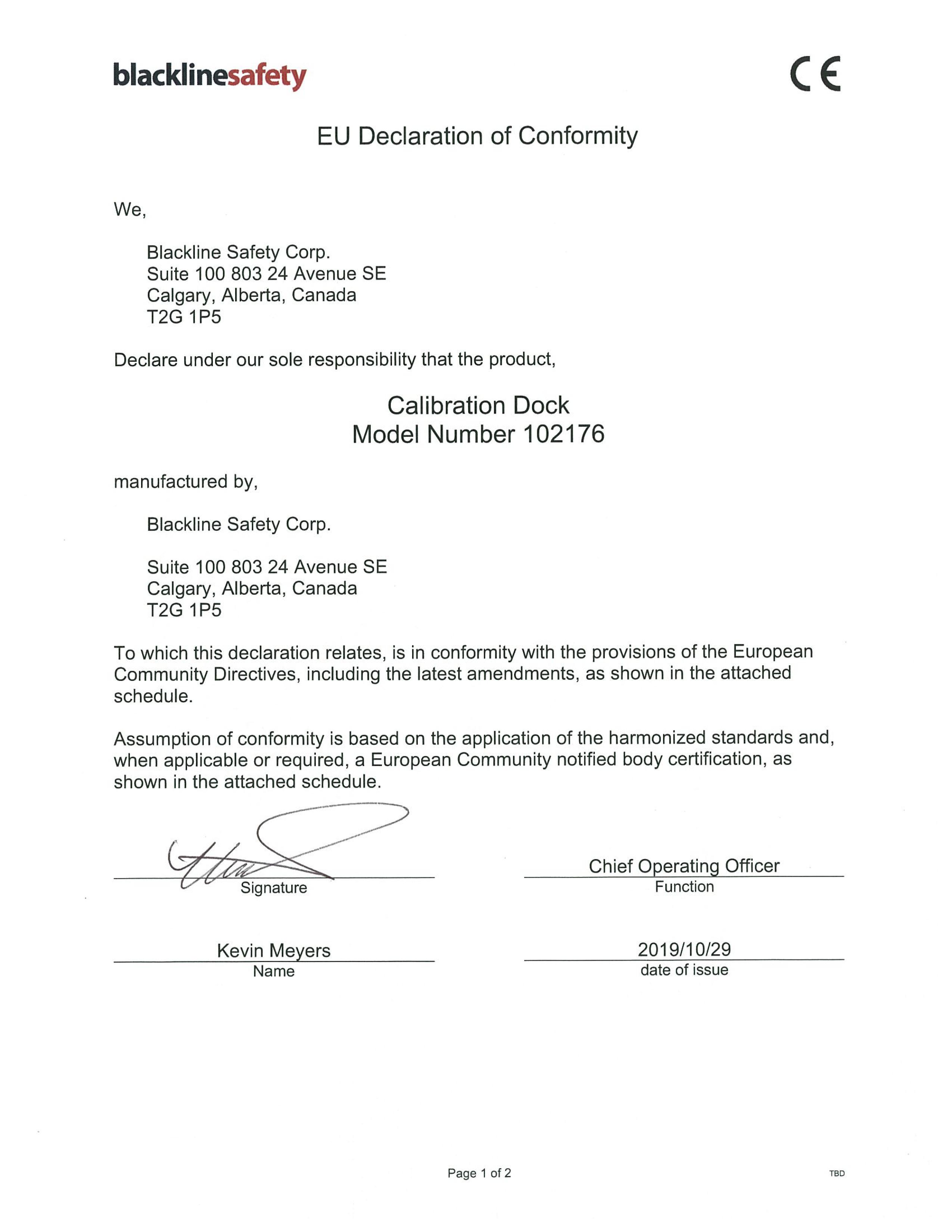 103437-Calibration Dock Declaration of Conformity -1-1