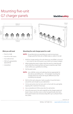 Charger panel wall-mounting instructions