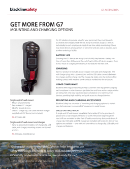 G7 mounting and charging options